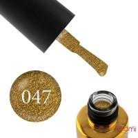 Гель-лак F.O.X Pigment 047 золото, с блестками, плотный, 6 мл