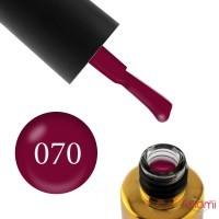 Гель-лак F.O.X Pigment 070 малиново-вишневый, эмалевый, плотный, 6 мл
