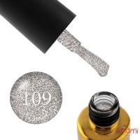Гель-лак F.O.X Pigment 109 сріблясті блискітки з голографічним ефектом, 6 мл