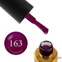 Гель-лак F.O.X Pigment 163 сливово-фиолетовый с мелкими блестками, 6 мл