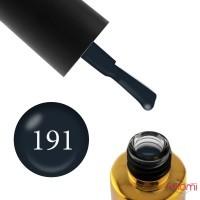 Гель-лак F.O.X Pigment 191 графітово-чорний з ледь помітним перламутровим мікроблиском, 6 мл