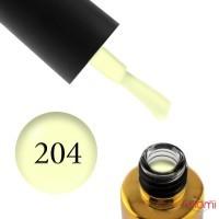 Гель-лак F.O.X Pigment 204 лимонный неон, 6 мл
