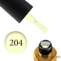 Гель-лак F.O.X Pigment 204 лимонний неон, 6 мл