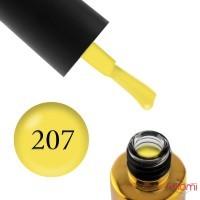 Гель-лак F.O.X Pigment 207 ярко-желтый, 6 мл