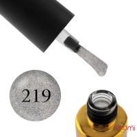 Гель-лак F.O.X Pigment 219 сріблясті блискітки з голографічним ефектом на прозорій основі, 6 мл