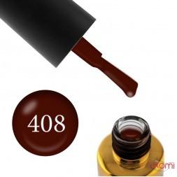 Гель-лак F.O.X Pigment 408 шоколадно-коричневый, 6 мл