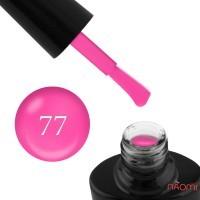 Гель-лак G.La color NEW 077, яркий розовый, с флуоресцентным эффектом, 10 мл