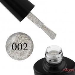 Гель-лак G.La color Illumi Rose 002 сріблястий айворі з великими і дрібними блискітками, 10 мл