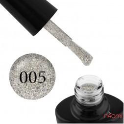 Гель-лак G.La color Illumi Rose 005 сріблястий айворі з переливними блискітками, 10 мл