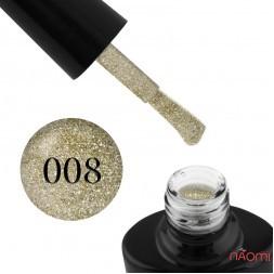 Гель-лак G.La color Illumi Rose 008 медово-золотой с блестками и слюдой, 10 мл