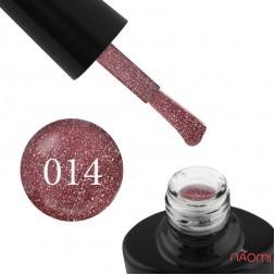 Гель-лак G.La color Illumi Rose 014 малиново-коричневий з блискітками і слюдою, 10 мл