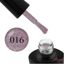 Гель-лак G.La color Illumi Rose 016 рожево-бузковий з блискітками, слюдою і перламутром, 10 мл