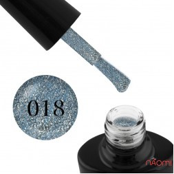 Гель-лак G.La color Illumi Rose 018 бирюзово-голубой блестками и слюдой, 10 мл