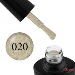 Гель-лак G.La color Illumi Rose 020 світле золото з блискітками, шимерами і перламутром, 10 мл