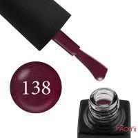 Гель-лак GO 138 вишневий, з шимерами, 5,8 мл