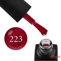 Гель-лак GO 223 малиново-бордовый, с блестками, 5,8  мл