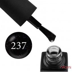 Гель-лак GO 237 черный с переливающимися блестками, 5,8 мл