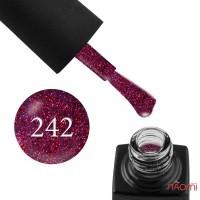 Гель-лак GO 242 фиолетовый, с малиновыми блестками, 5,8 мл