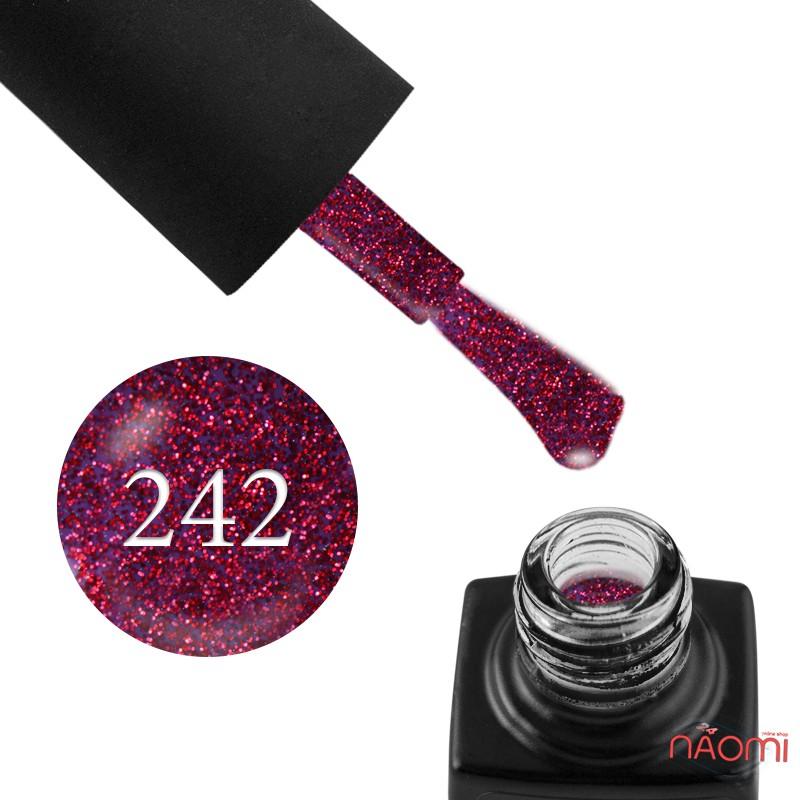 Гель-лак GO 242 фиолетовый, с малиновыми блестками, 5,8 мл, фото 1, 65.00 грн.