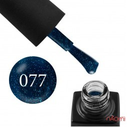 Гель-лак GO Active 077 Be Yourself синій з блакитними шимерами, 10 мл