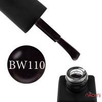 Гель-лак Kodi Professional Black & White BW 110 чорний з рожевими шимерами, 8 мл