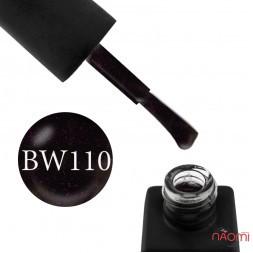 Гель-лак Kodi Professional Black & White BW 110 черный с розовыми шиммерами, 8 мл