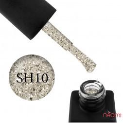 Гель-лак Kodi Professional Shine SH 010 плотные светло-золотистые блестки и конфетти, 8 мл