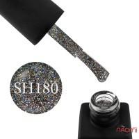 Гель-лак Kodi Professional Shine SH 180 серебристые, золотые и синие крупные и мелкие блестки, 8 мл