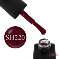 Гель-лак Kodi Professional Shine SH 220 фиолетово-бордовый, с красными шиммерами, 8 мл
