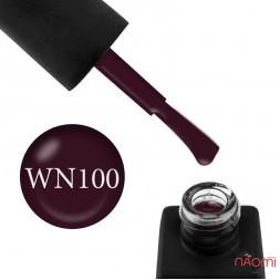 Гель-лак Kodi Professional Wine WN 100 темний виноградно-сливовий, 8 мл