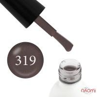 Гель-лак Koto 319 мягкий коричневый, кофе с молоком с розовым микроблеском, 5 мл