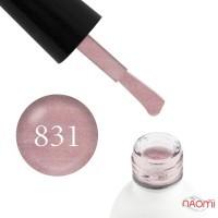 Гель-лак Koto 831 розово-бежевый с переливающимися шиммерами, 5 мл
