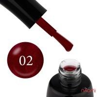 Гель-лак LUXTON 002 винный с красными блестками, 10 мл