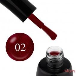 Гель-лак LUXTON 002 виновий з червоними блискітками, 10 мл
