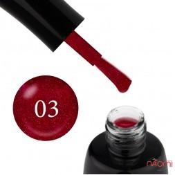 Гель-лак LUXTON 003 малиновый с красными блестками, 10 мл