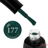 Гель-лак LUXTON 177 светлый изумрудный с цветными шиммерами, 10 мл