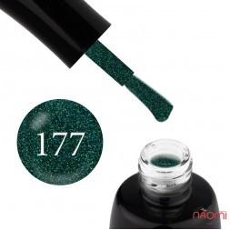 Гель-лак LUXTON 177 світлий смарагдовий з кольоровими шимерами, 10 мл