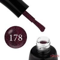 Гель-лак LUXTON 178 винная слива с цветными шиммерами, 10 мл