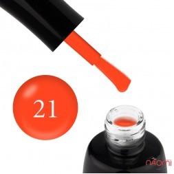 Гель-лак LUXTON 021 неоновый оранжевый с флуоресцентным эффектом, 10 мл