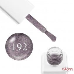 Гель-лак мраморный Trendy Nails № 192 серо-розовый, с флоком, плотный, 8 мл