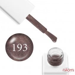 Гель-лак мармуровий Trendy Nails № 193 кавово-коричневий, з флоком, 8 мл
