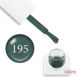 Гель-лак мраморный Trendy Nails № 195 зеленый, с флоком, плотный, 8 мл