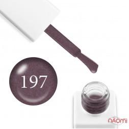 Гель-лак мраморный Trendy Nails № 197 серо-розовый, с флоком, плотный, 8 мл