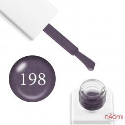 Гель-лак мармуровий Trendy Nails № 198 сіро-ліловий, з флоком, 8 мл