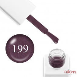 Гель-лак мармуровий Trendy Nails № 199 виноградний, з флоком, 8 мл