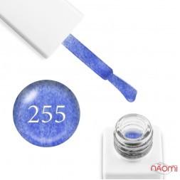 Гель-лак мармуровий Trendy Nails № 255 небесно-синій, з флоком, 8 мл