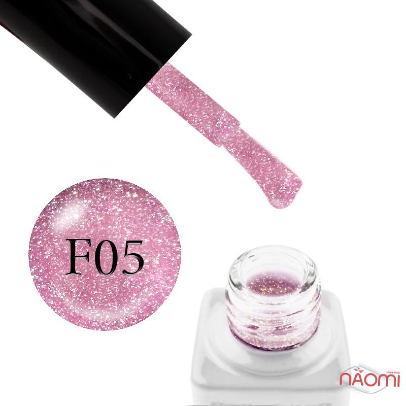 Гель-лак Nails Molekula Flash Effect F05 светоотражающий светло-розовый с блестками и шиммерами, 6 мл, фото 1, 100.00 грн.
