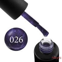 Гель-лак Naomi 026  Rouge фиолетово-синий, 6 мл