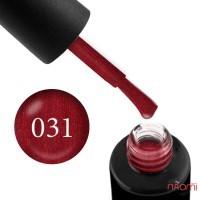 Гель-лак Naomi 031  Stiletto бордовый с блестящим отливом красного, 6 мл