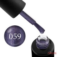 Гель-лак Naomi 059  Tanzanite фиолетово-сливовый блестящий металлик, 6 мл